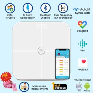actofit smart weighing scale bluetooth