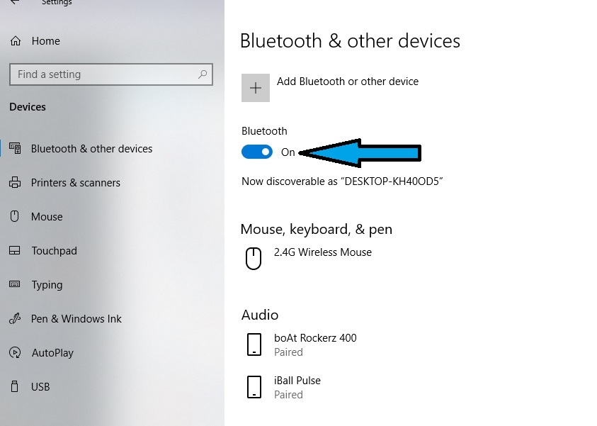 connect bluetooth device to laptop